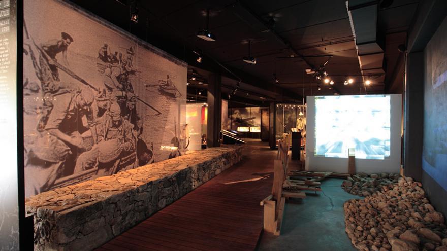 Interior del Centro de Interpretación 115 Días de Corbera de Ebro. COMEBE