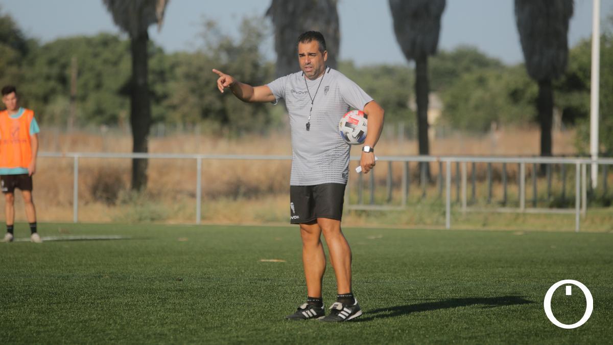 Germán Crespo en un entrenamiento con el Córdoba