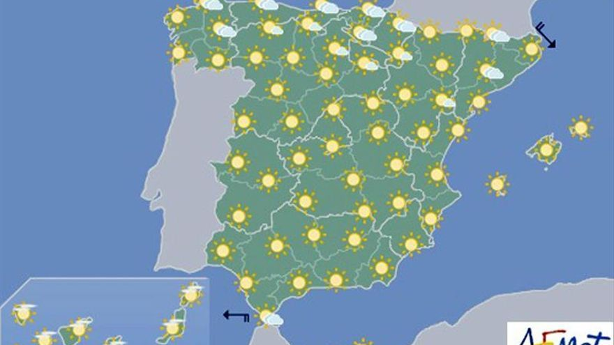 Hoy, tiempo estable en todo el país con cielo despejado