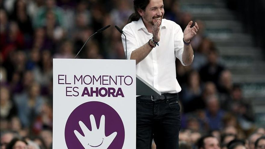 """Pablo Iglesias dice que si el Eurogrupo """"no toma la rama de olivo"""" de Tsipras será el fin de la UE"""