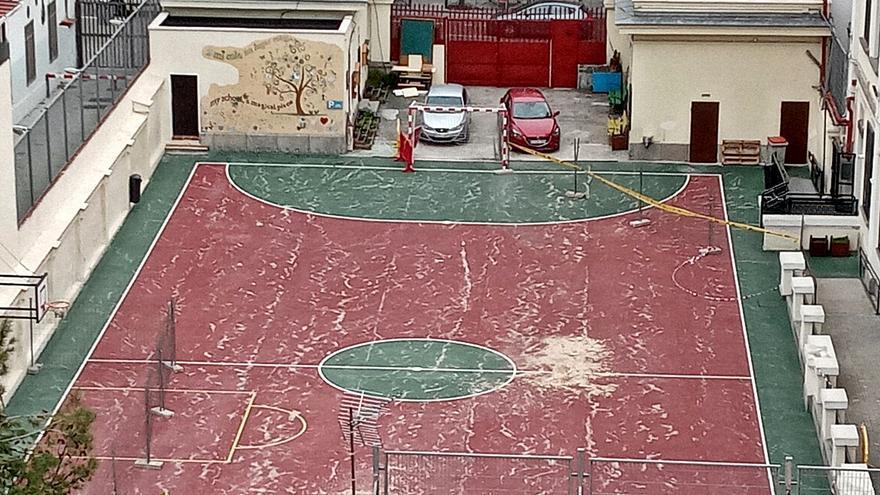 Mes y medio sin patio en un colegio de Chamberí por los efectos de Filomena