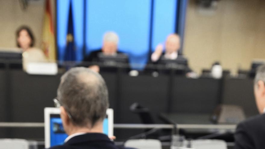 El expresident balear Jaume Matas comparace por videoconferencia desde la cárcel.