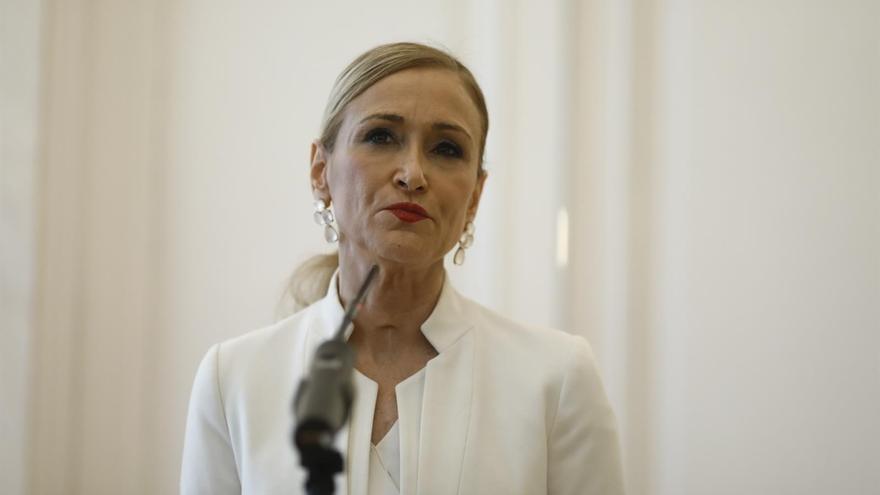 Cristina Cifuentes anuncia su dimisión como presidenta de la Comunidad de Madrid.