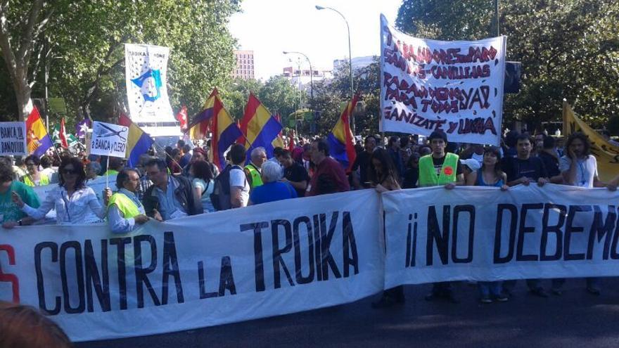 Manifestación contra la troika en Madrid