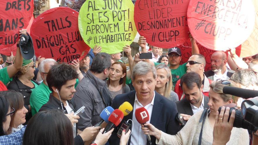 Escrache de la PAH al PP de Barcelona.  (Foto: João França)