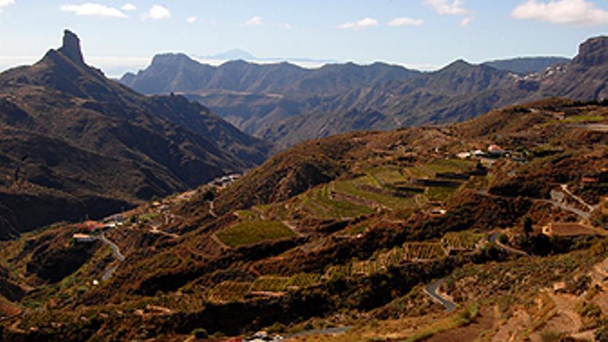Vistas desde la bodega Bentayga, en Tejeda.(L.J.V.)