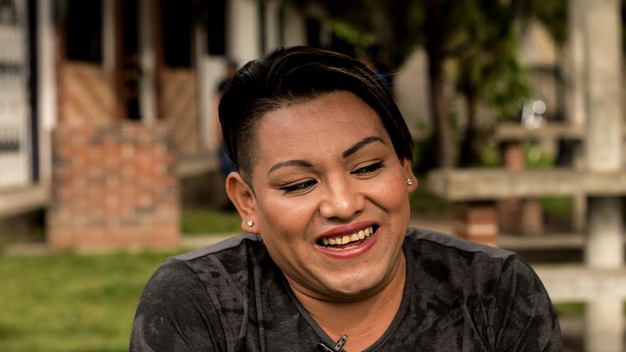 Kristel Mendoza, mujer indígena trans.