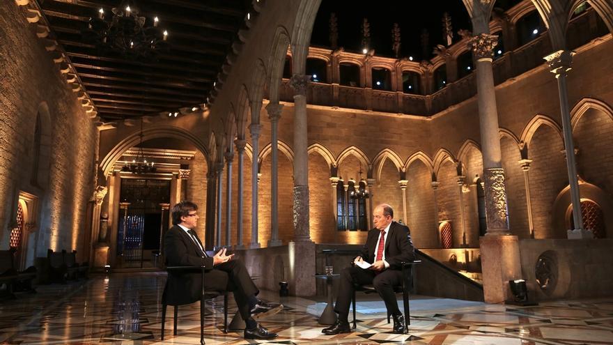 """Puigdemont no teme ser inhabilitado y avisa: """"El TC ya no altera el referéndum"""""""