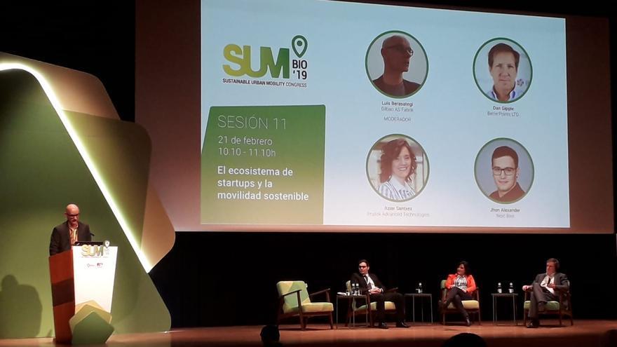 Ponencia sobre El ecosistema de 'startups' y la movilidad sostenible en SUM19 de Bilbao