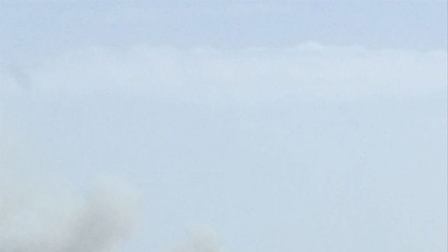 Incendio de Calzadilla en foto tomada desde Torre de Don Miguel