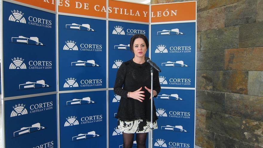 La presidenta de las Cortes de Castilla y León.