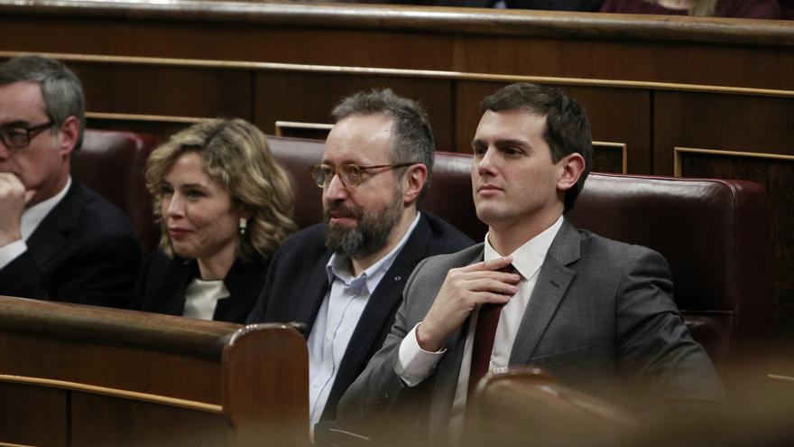 Albert Rivera y la bancada de Ciudadanos, en el debate de investidura, el 1 de marzo de 2016.
