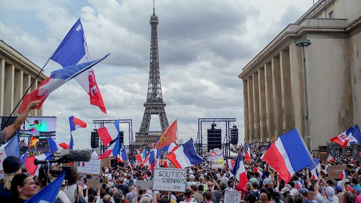 Las autoridades calculan que a las protestas del sábado reunieron a más de 200.000 personas en todo el país