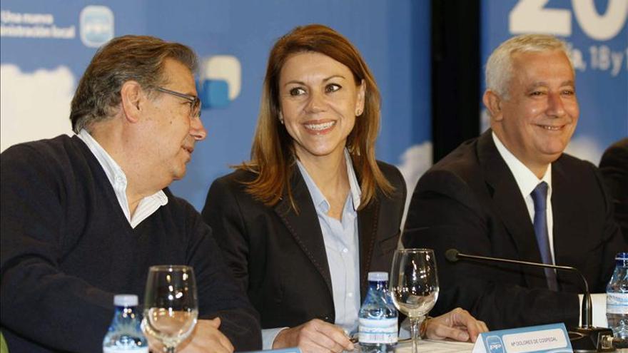 Juan Ignacio Zoido, María Dolores de Cospedal y Javeir Arenas