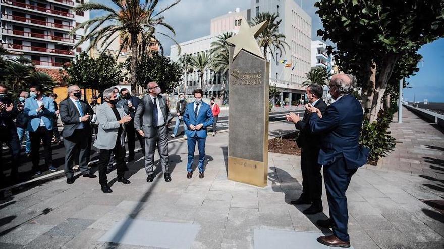 La Palma inaugura el 'Paseo de Estrellas' dedicado a célebres científicos