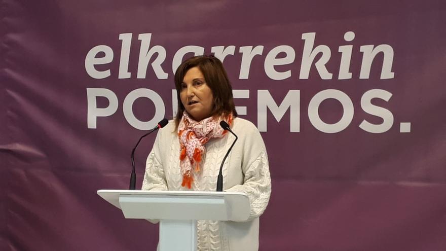 La coordinadora autonómica de Podemos Euskadi, Pilar Garrido