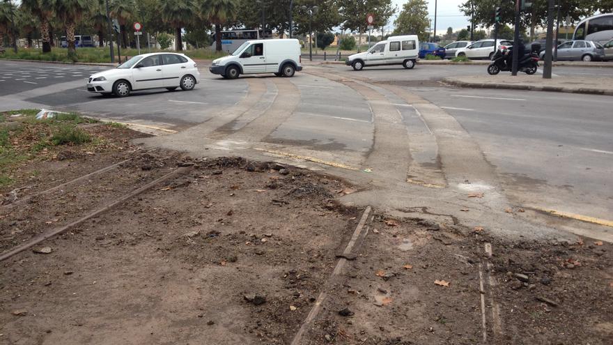 El cruce de la avenida General Urrutia con Antonio Ferrandis, con las vías eliminadas.