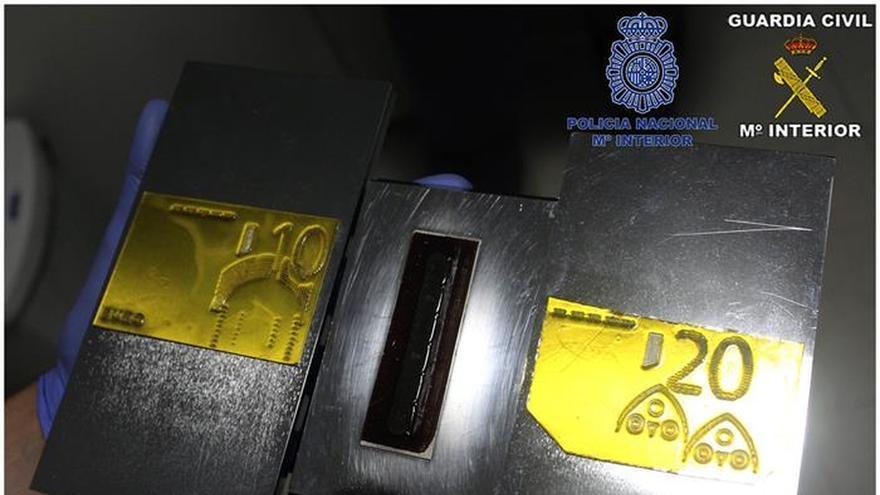 Siete detenidos de la mayor red de falsificación de moneda conocida en España