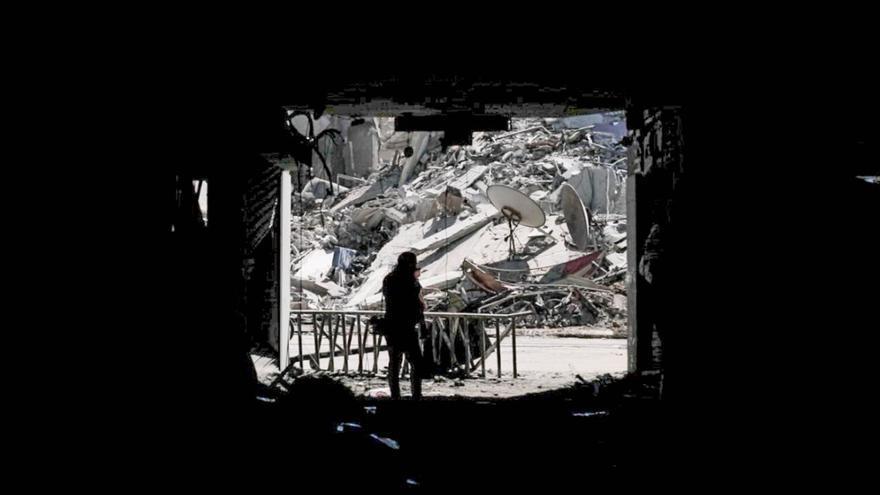 El edificio Hanadi en Gaza destruido en varios ataques aéreos israelíes. © Foto UNRWA 2021