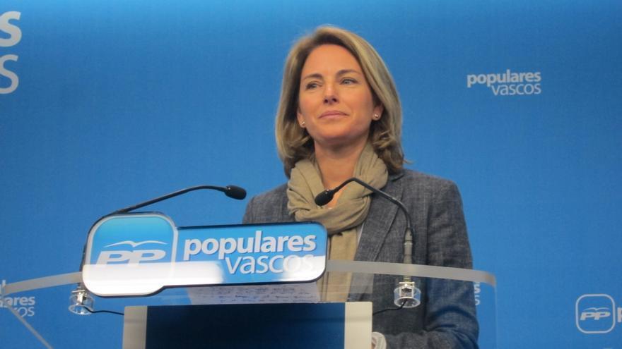 Quiroga no se plantea dejar la presidencia de PP vasco tras los resultados de su partido el 24M porque ya se lo esperaba