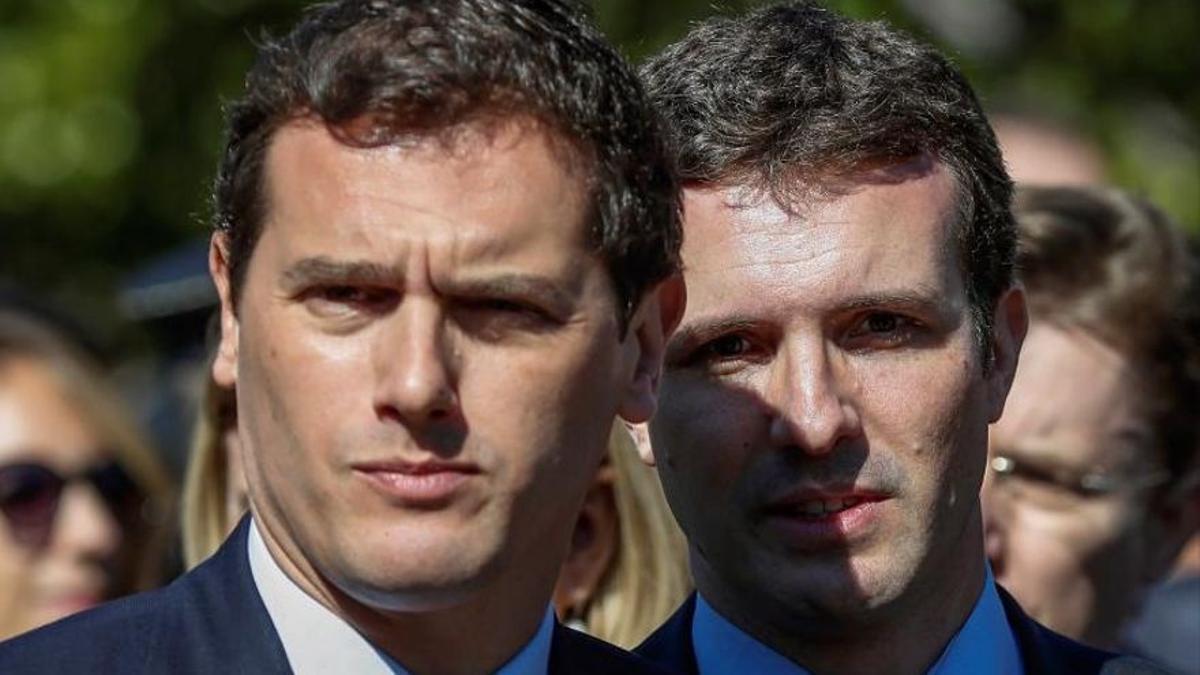 Albert Rivera y Pablo Casado, en una imagen de archivo.