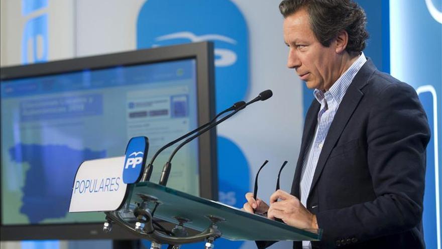 Floriano: A pesar de la bajada del PP, el PSOE está en el subsuelo