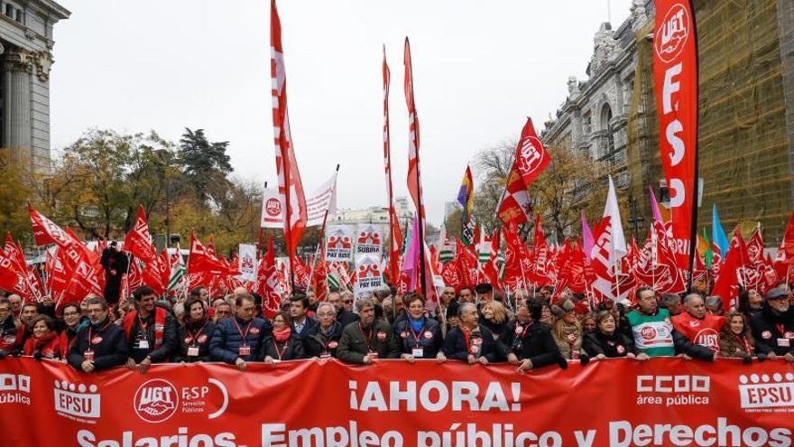 Los funcionarios estatales se manifestarán por el parón del convenio único