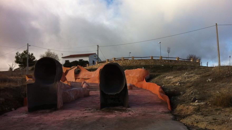 Inicio del paseo escultórico de Olmeda / Ayuntamiento