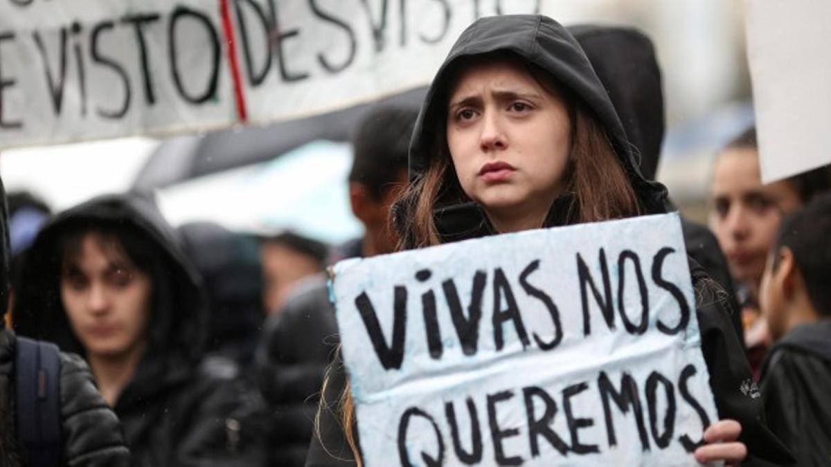 Foto de archivo de una manifestación contra la violencia machista