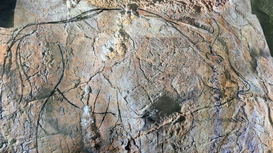 La investigación en Alkerdi descubre 14 nuevos elementos de arte parietal paleolítico y restos de silex