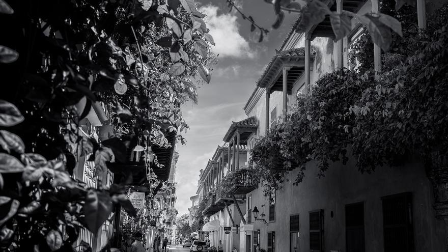Una calle de Cartagena de Indias.
