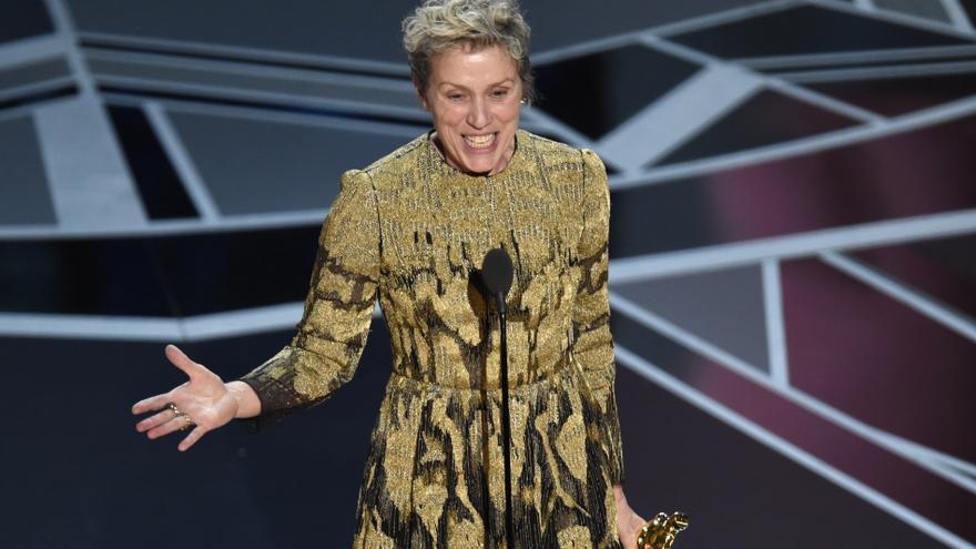 Frances McDormand, la mejor actriz de los Oscar 2018 por 'Tres anuncios en las afueras' \ Chris Pizzello / AP PHOTO