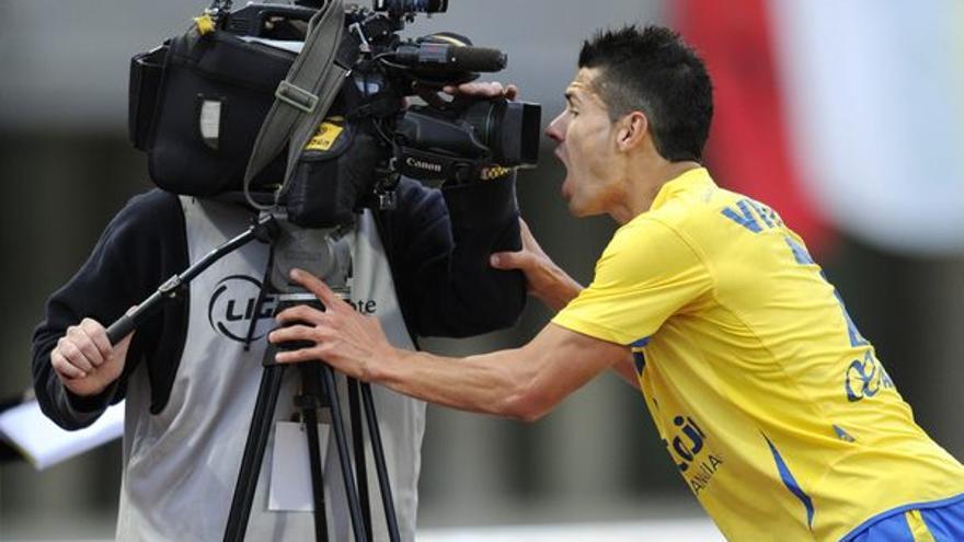 Vitolo habla a cámara en una imagen de archivo (udlaspalmas.net).