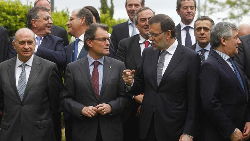 Mas elude el debate soberanista ante Rajoy y reclama el Corredor Mediterráneo