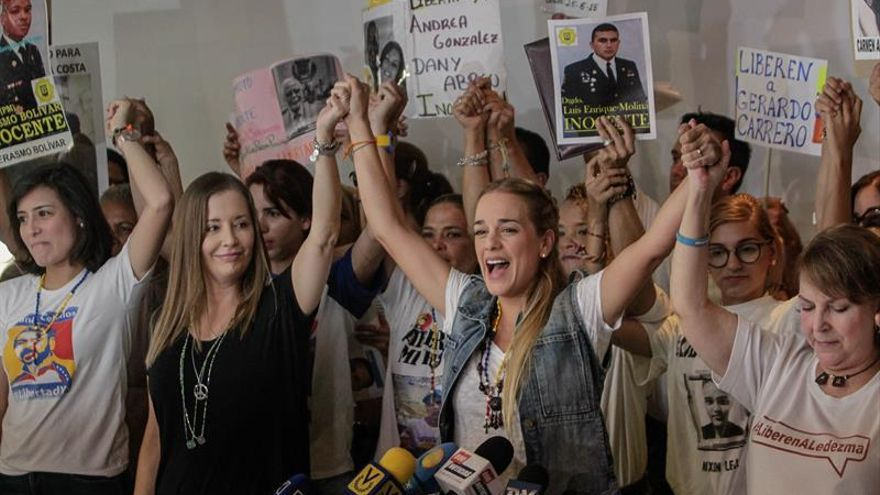 "Esposas de opositores venezolanos crean un ""Comité de familiares de presos políticos"""