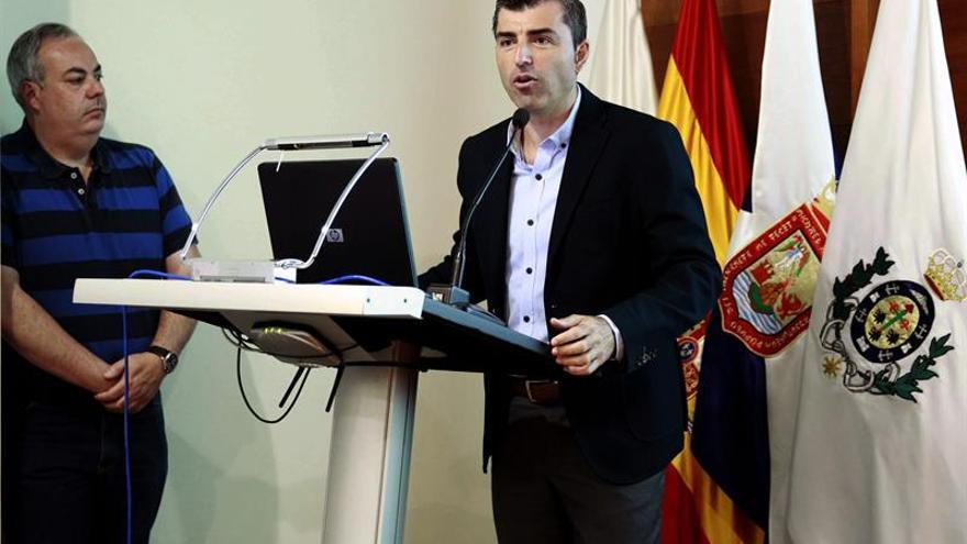 El candidato del PP a la Presidencia del Cabildo de Tenerife, Manuel Domínguez.
