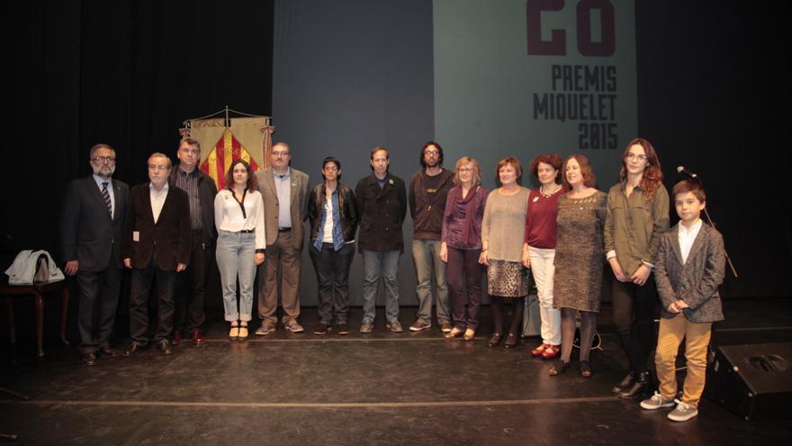 Els premiats en la nit de la Societat Coral el Micalet, a València.