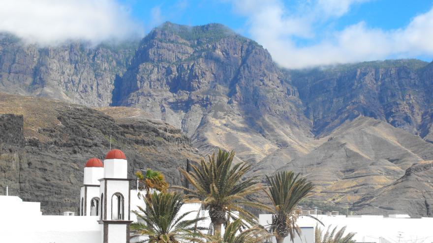 Vistas del Valle de Agaete desde la costa.