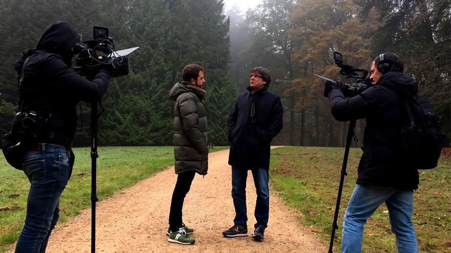 La entrevista a Puigdemont en Quatre gats de TV3