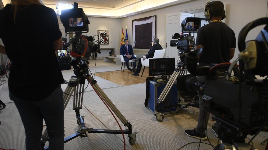 Pedro Sánchez, durante la entrevista en La Sexta en Moncloa.