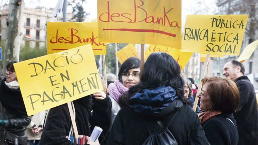 Manifestación contra los abusos de la banca. FOTO: ANDREA BOSCH