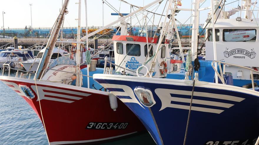 Barcos pesqueros en Canarias