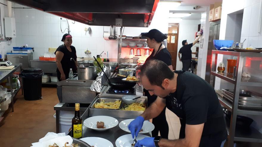 En la cocina del restaurante Casa de Cristo