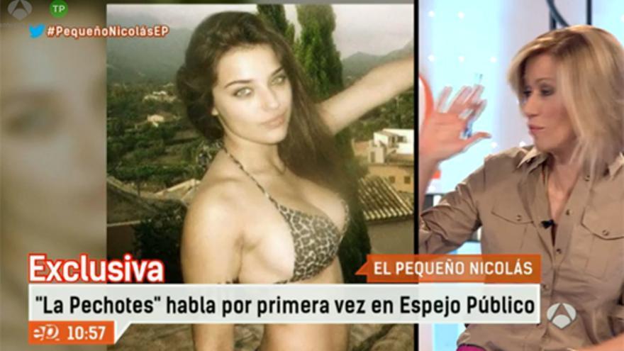 """'La Pechotes' habló por primera vez en TV para 'Espejo': """"Estoy indignada con mi mote"""""""