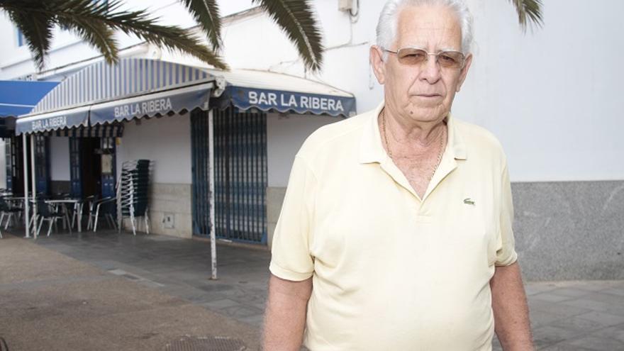 José Ramón Arbelo, en la Ribera. Foto: Felipe de la Cruz.