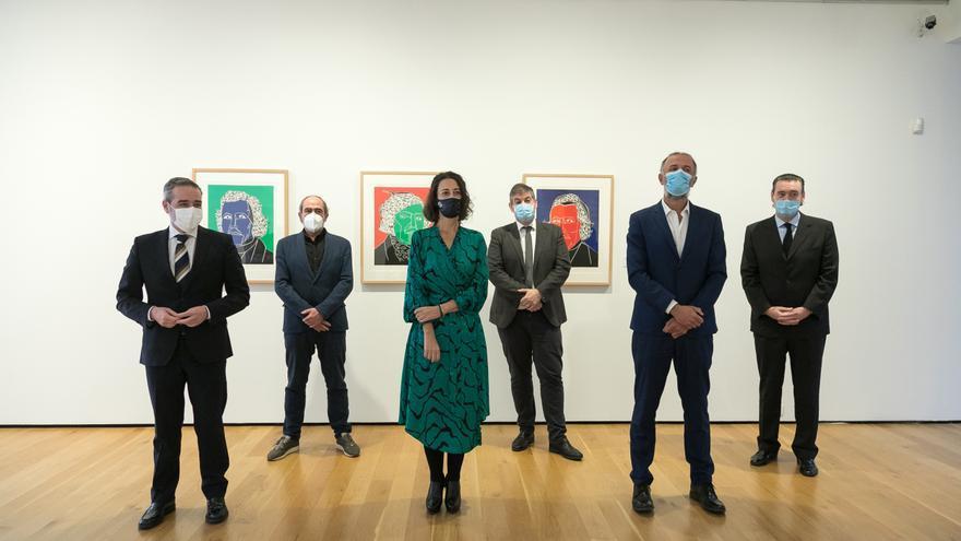 Exposición de los grabados de Eduardo Arroyo donados al Bellas Artes Bilbao