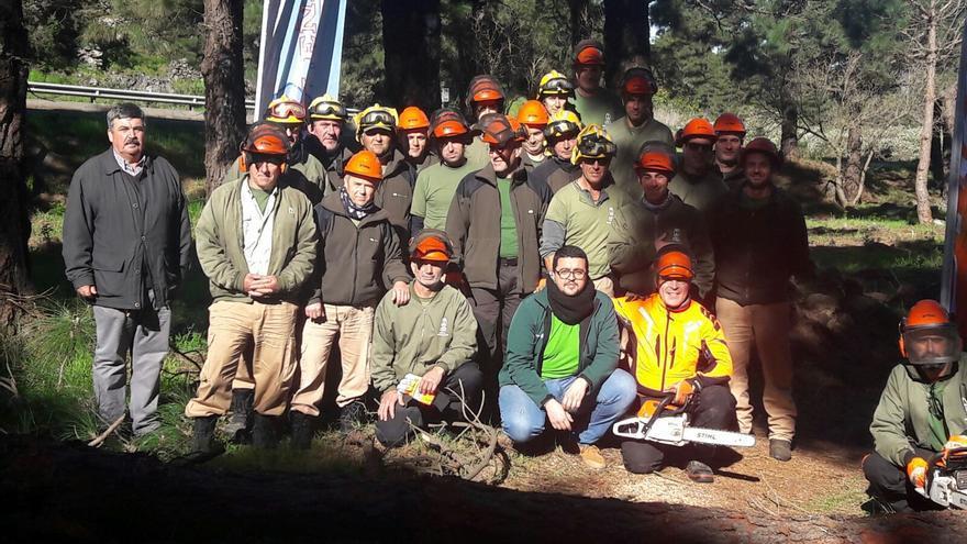 En la imagen, los trabajadores que participaron en los módulos.