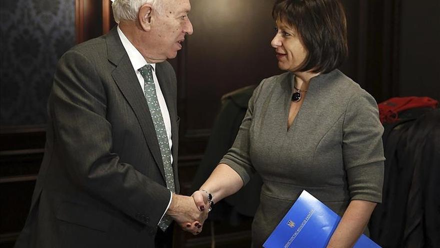 Margallo visita Ucrania para expresar el apoyo de España en el conflicto con Rusia