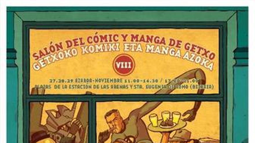 Cartel de Salon del comic de Getxo 2009
