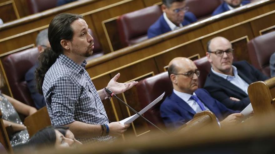 """Iglesias pide a ERC """"bajar el tono"""" y asumir diferencias sobre el referéndum"""